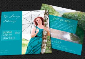 Memories Square Funeral Program Template by Godserv