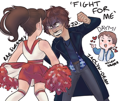Fight For Me (Heathers!Genderbend AU) by Navybud