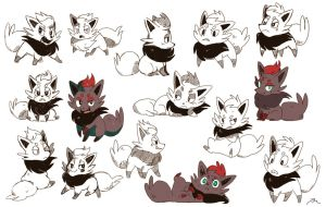 Zorua by bluekomadori