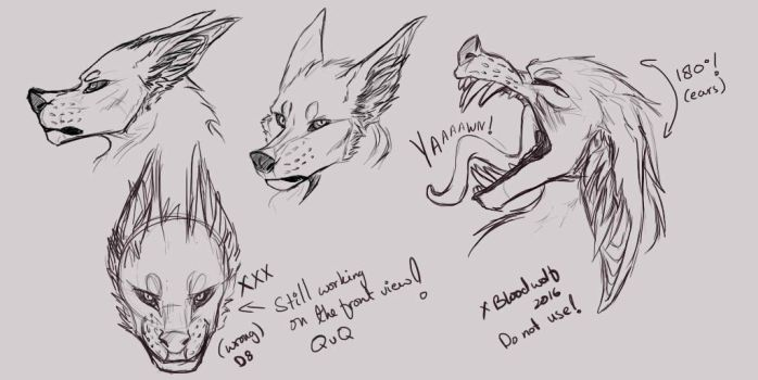 Headshot concept (CLOSED SPECIES) by InfernianLord