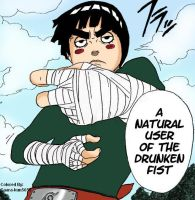 Rock Lee Manga-Drunken Fist by gaara-kun5656