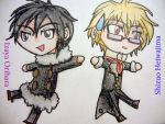 Shizu-chan And Izaya-chan by AngieDraco