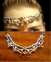 Purple and Gold Headpiece by ammajiger