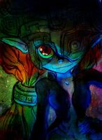 Midna in color: art collab by froggiefroggie