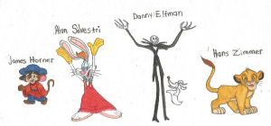 Famous music composers of animated films by brazilianferalcat