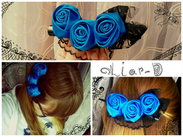blue roses by Liar-D