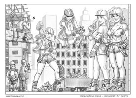 Giantess Demolition Girls by giantess-fan-comics