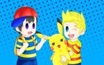 Ness pikachu and lucas :3 by Gonzown