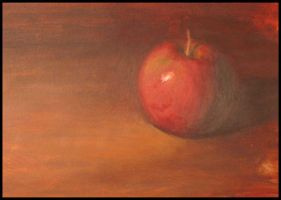 1st Apple Oil Painting by MumboJumbo