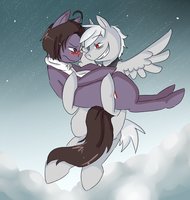 Let me carry you :: For Ask-Pony-PruAus by PikaIsCool
