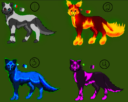 Swimagain's Wolf Adoptables by Cookie96