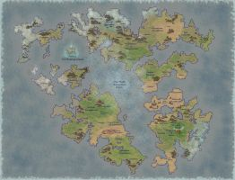 Pangaea's Split (With Biomes) by Dazsos