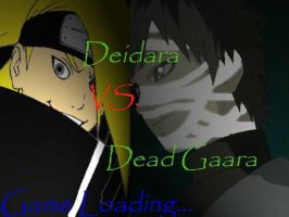Game Loading..Deidara vs Gaara by LainyLu