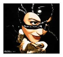 Catwoman with cat by HidaKuma