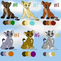 Lion King Adoptables 1 CLOSED by PlaidBird
