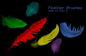 Feather Brushes by phoenixity