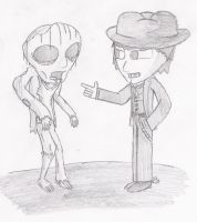 Cowboy Carl and Zombie Earl by thereisnoend01