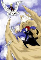 Gaara vs. Deidara by sanoudou