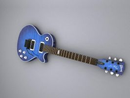 Blue Les Paul WP by cheyrek