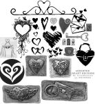 Assorted heart brushes by lovetheories