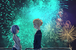 Confession time behind firework by nikky93