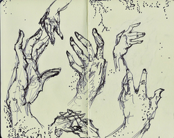 Hand Sketches by chikaze-thousandwind