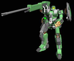 Mobile Suit MS-1 by MonkeydanceGuy
