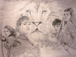 The Kings and Queens of Narnia by lolbenjo