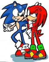 _Sonic and Knuckles_ by Umbra-Flower