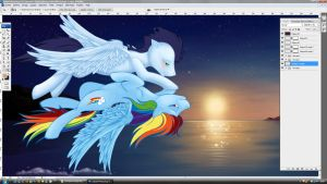 Wip - Colo V1 - Flying-bliss by tinuleaf