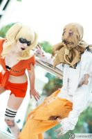 Harley and Scarecrow Escape from Arkham by ViciousVoux