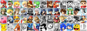 SSB4 Prediction Roster (old) by Kirby-Kid