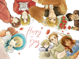 Happy Mayuge Day -Group- by javanazV