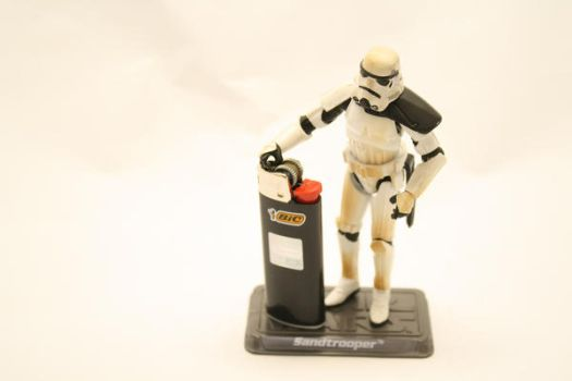 Stormtrooper and Bic by tchago84