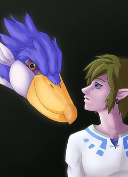 Link and Loftwing - Color by corfidbizna