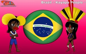 Chibi Kayapo People, Brazil - Animondos - by Dougieus