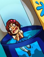 Susan in the Dunk Tank (Commission) by Sunflower-kun