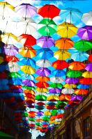 Umbrella Street by faviloves