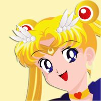 Cheerful Sailor Moon by puruno