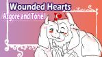 Asgore and Toriel Wounded Hearts by reina-del-caos
