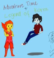 Adventure Time + Legend of Korra crossover by melodicthoughts23