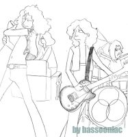 Led Zeppelin Simpsons Style by bassooniac