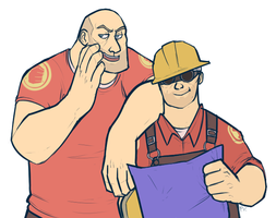 Engie and Hoovy. by FancyPancakes