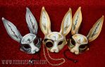 Clockwork Hare Masks by merimask
