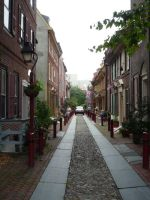 Elfreth's Alley 1 by raindroppe