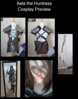 Aela the Huntress Skryim Cosplay Preview by dahowbbit