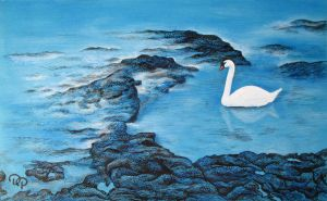 Swan blue by diana-0421