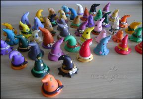 Wizard hats keychains by Oracle-of-Moon