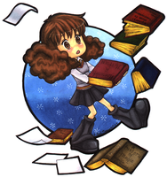 Chibi-ish Hermione Granger by CrystallineColey