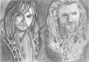 aceo Kili and Fili by BethannNg